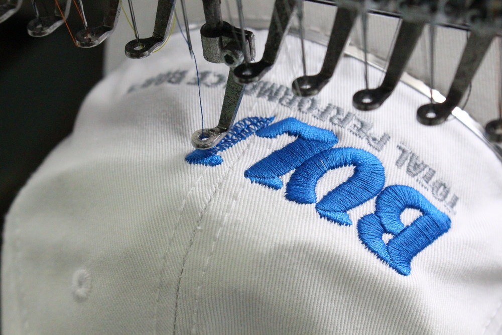 EMBROIDERY - Take your branded merchandise to the next level with custom embroidery!- State-of-the-Art Embroidery Equipment- Puff, Tackle-Twill and Fashion Threading- Apparel, Hats, Backpacks & More- Custom Design Assistance- Pantone Color Matching