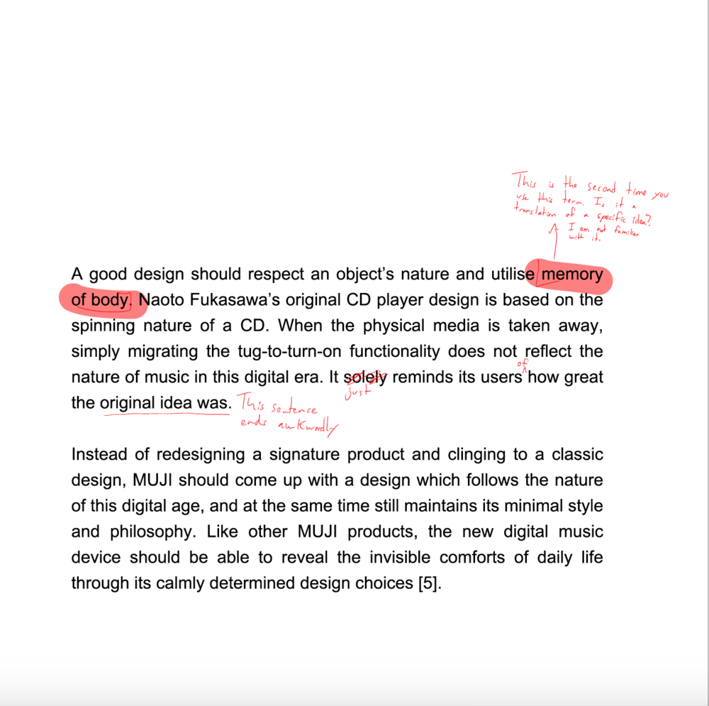 Document A Design MUJI CD Player Luona Cai - What is a design document