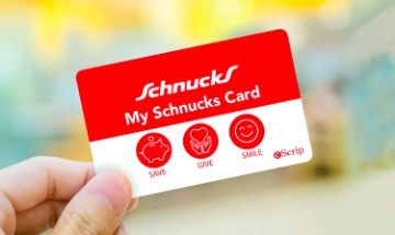 MySchnucks 3% of every dollar spent donated to us.  - 1. Visit Schnucks and request a Community Card. 2. Register your card HERE.3. Present the card to the cashier when you shop.