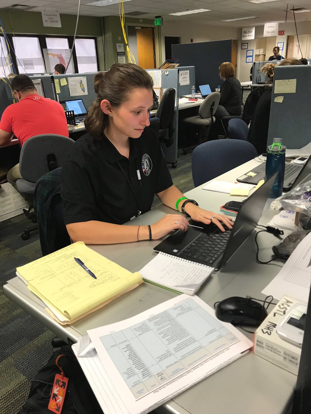 Year 24 member, Heather McSherry, supporting FEMA operations in the Joint Field Office in Orlando, Florida, 2017