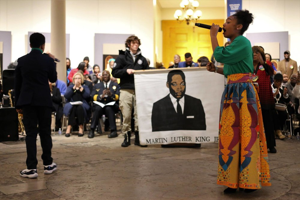Photo of MLK Day, St. Louis Missouri, at the Old Courthourse. Photo by ERT member Wyatt Berrier.
