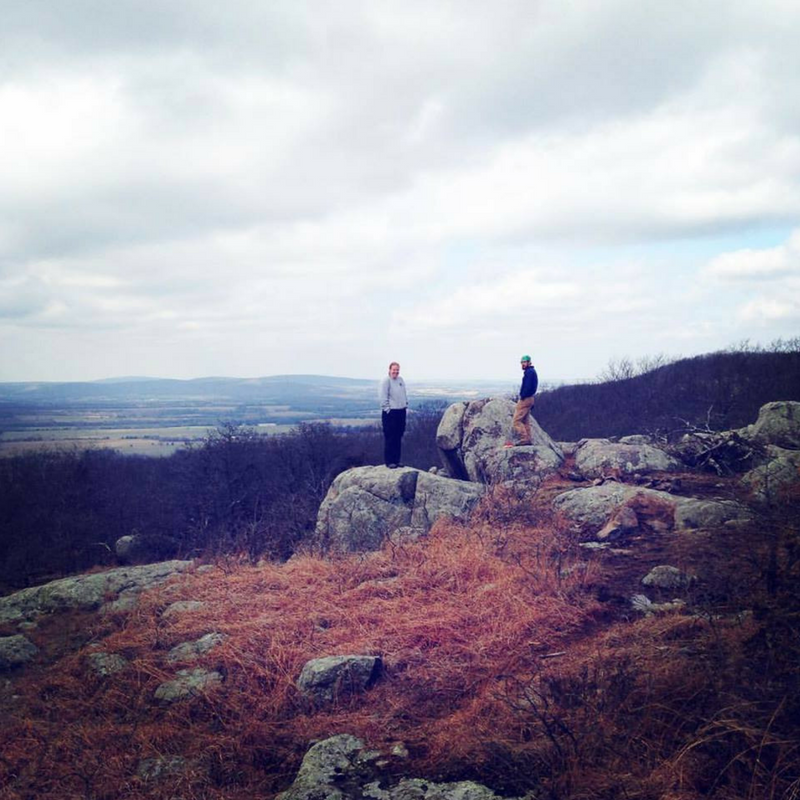 Members from Year 23, Kelley Hower and Ethan Maple, pose on top of Buford Mountain.