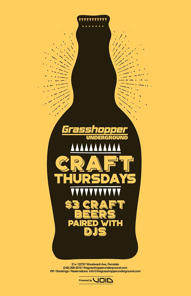 CRAFT 5/10 - PVRTY HVRD, Martin Hayz, IOTA + more! - May 10th - The Grasshopper Underground  - Ready to get down with PVRTY HVRD and a great line up of local DJ's to kick off your weekend? The Grasshopper Underground has you covered, offering $3 local craft beers and DJs serving up local craft beats. Head lined by PVRTY HVRD (two local DJs Roman Holliday and Ryan Lew). Jerry Huynh ends the show. He had made his debut just last month and is a someone to keep an eye out for