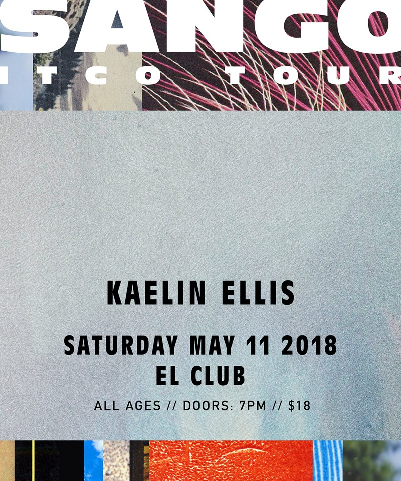 Sango / Kaelin Ellis / Epicure / Marr Grey  - May 11th -El Club - El Club and React Detroit present Sango. Hailing from Seattle, the record producer and DJ  has been making music since 2010. He is currently touring to promote his latest studio album