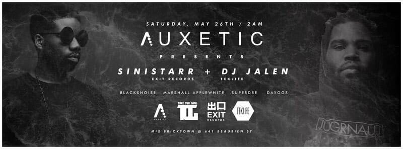 A U X E T I C - May 27th - MIX Bricktown - Auxetic has partnered  with DJ Jalen,  Sinistarr, and Black Sheep Collective. Bringing local talent some well deserved spotlight among the international talent headlining this weekend. We have a carefully selected line up featuring support by Marshall Applewhite, Black Noi$e, and DJ Holographic. Bring your dancing shoes and be ready to party