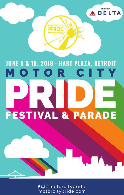 Motor City PRIDE - June 9/10th - Hart Plaza - Motor City Pride Parade and Festival is back.With 4 stages, and over 50 artists performing in Hart Plaza accompanying the parade. This celebration of the local LGBTQ+ community is a fantastic way to commemorate our visibility