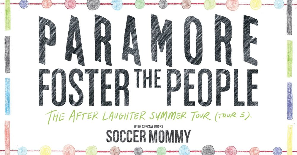 Paramore and Foster The People: The After Laughter Summer Tour (tour 5) -  June 29th - Detroit Energy Music Theater  - Following up on their massively successful tour,  Paramore is back at it this summer. This teen angst alternative pop band has been making chart topping hits for over a decade, serving as the soundtrack of many 90's kids lives. Being joined for the night by Foster the People and Soccer Mommy, prepare for a high energy show at DTE Theatre. To learn more about this event, click below.