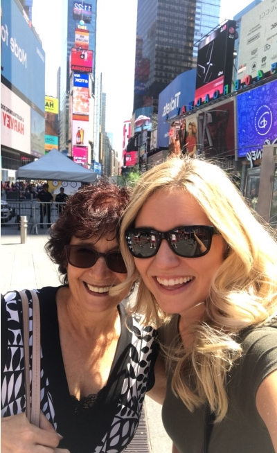Donna, my beautiful New York team member, and I in Time Square!