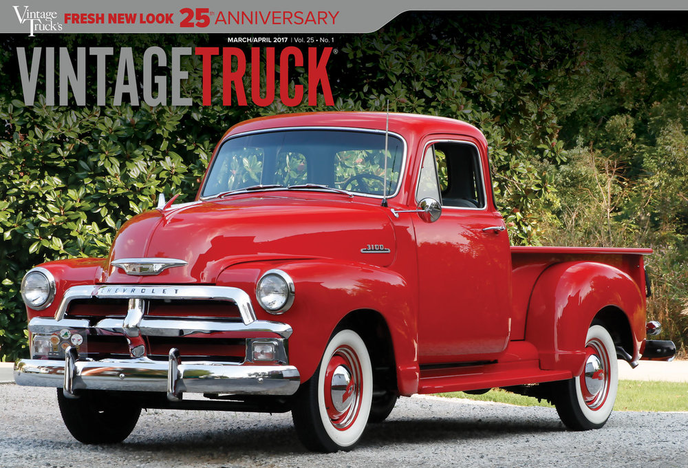 The 25th Anniversary issue (March/April 2017) of Vintage Truck magazine has our first-ever 2-panel cover!