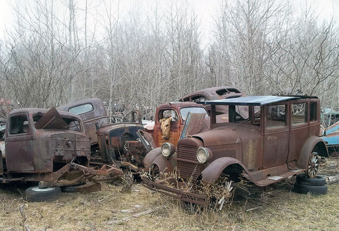 Obviously, the 1927 Essex was the focus of the photo, but in the background we see at least three truck bodies.