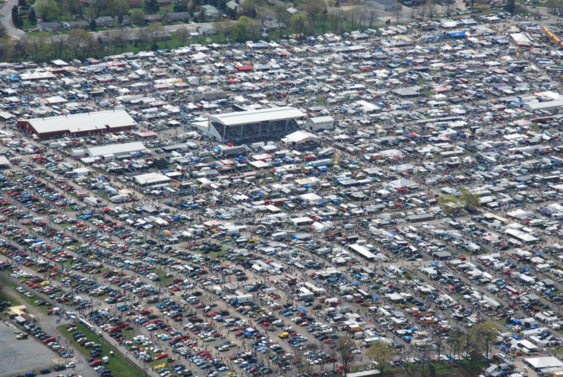 The 150-acre facility hosts more than 8,100 vendors during Spring Carlisle.