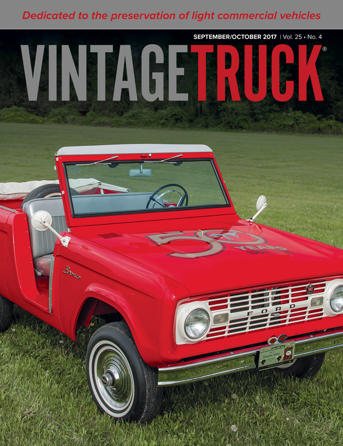 September/October 2017 VINTAGE TRUCK COVER
