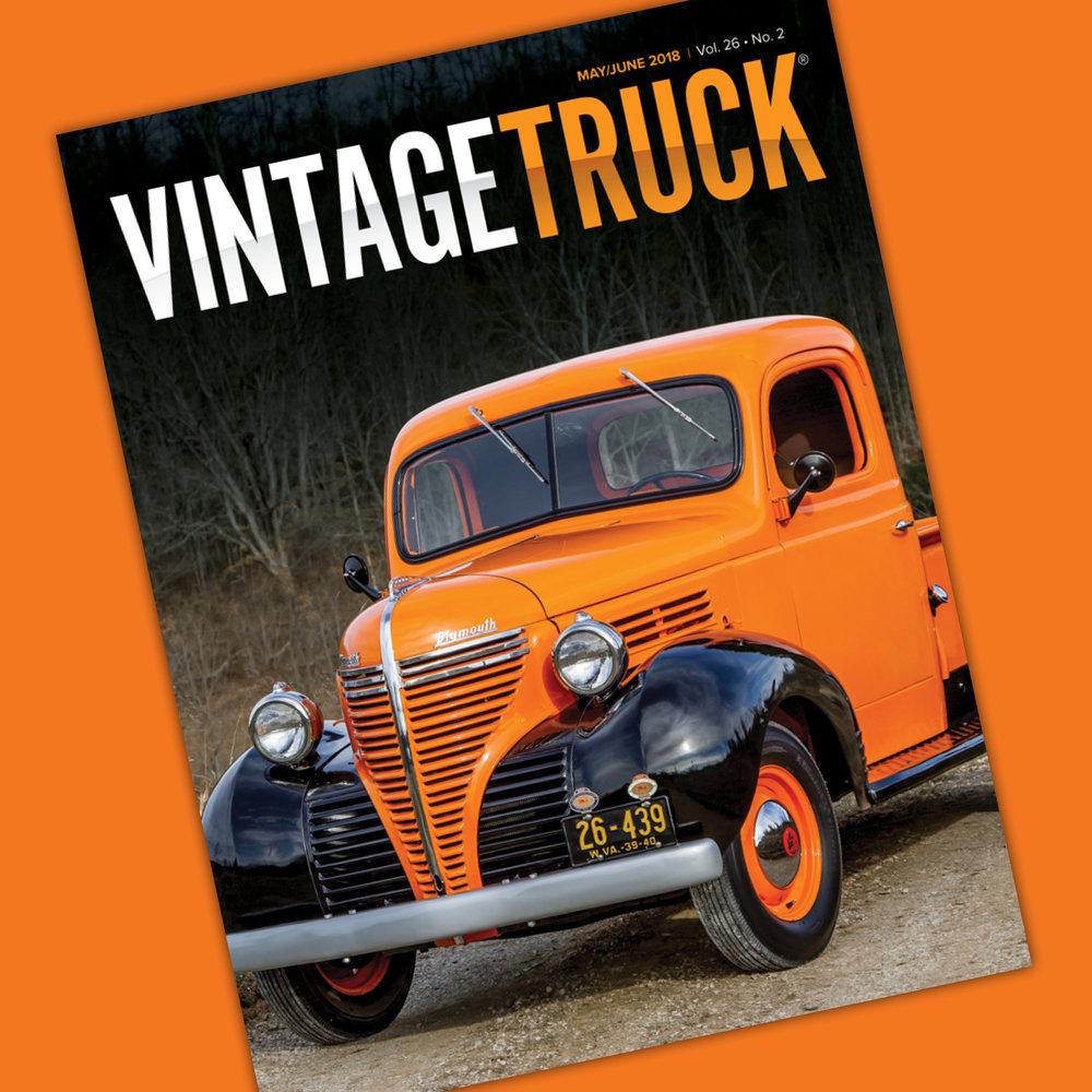May June 2018 Vintage Truck Magazine 1941 Plymouth 2 Door Sedan