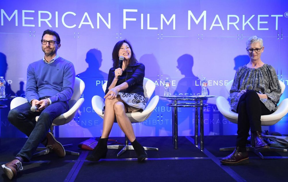 Jonathan King, President of Narrative Film & Television, Participant, Janet Yang, Producer, and Alison Thompson, Co-President, Cornerstone Films.jpg