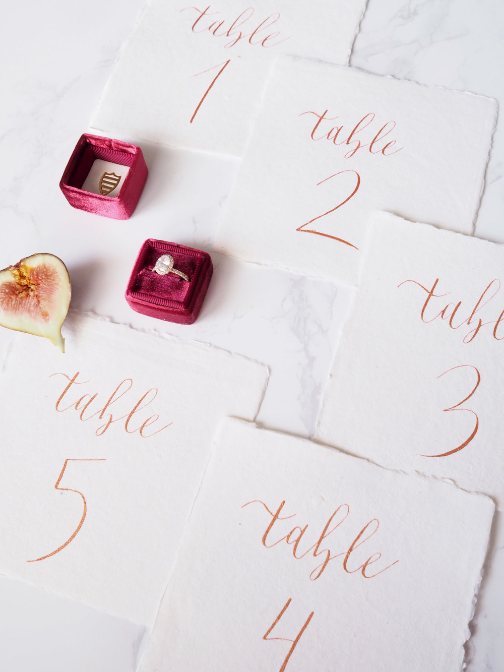 Blooming Flourishes_Day of Calligraphy_Table Numbers