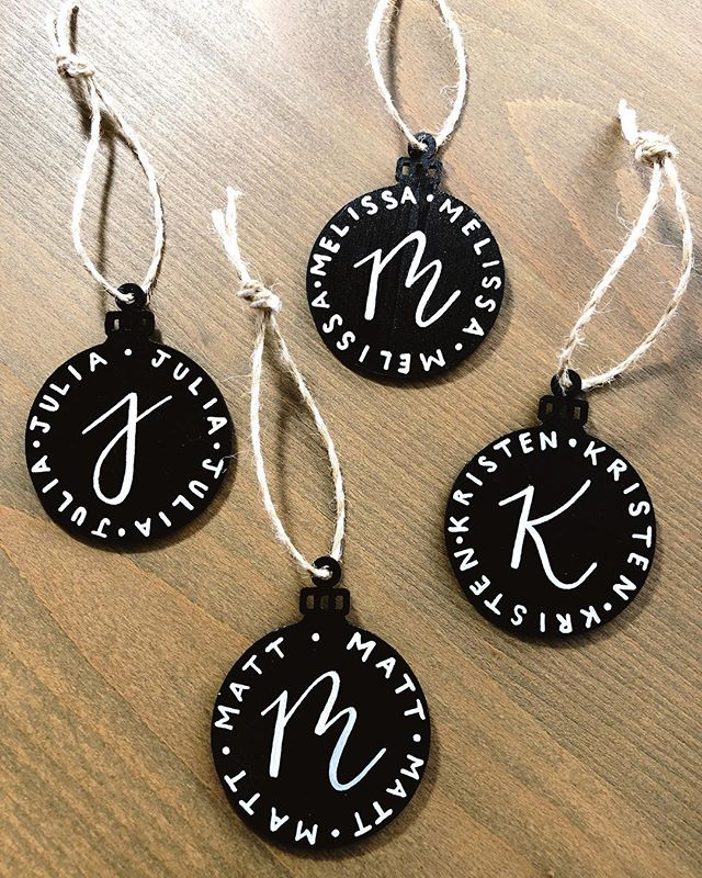 The holiday season has officially begun and I'm kicking off the season with these cute little ornament tags 🎄