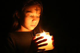 Ash Wednesday candle