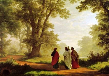 The Journey to Emmaus by 19th century Swiss painter Robert Zund