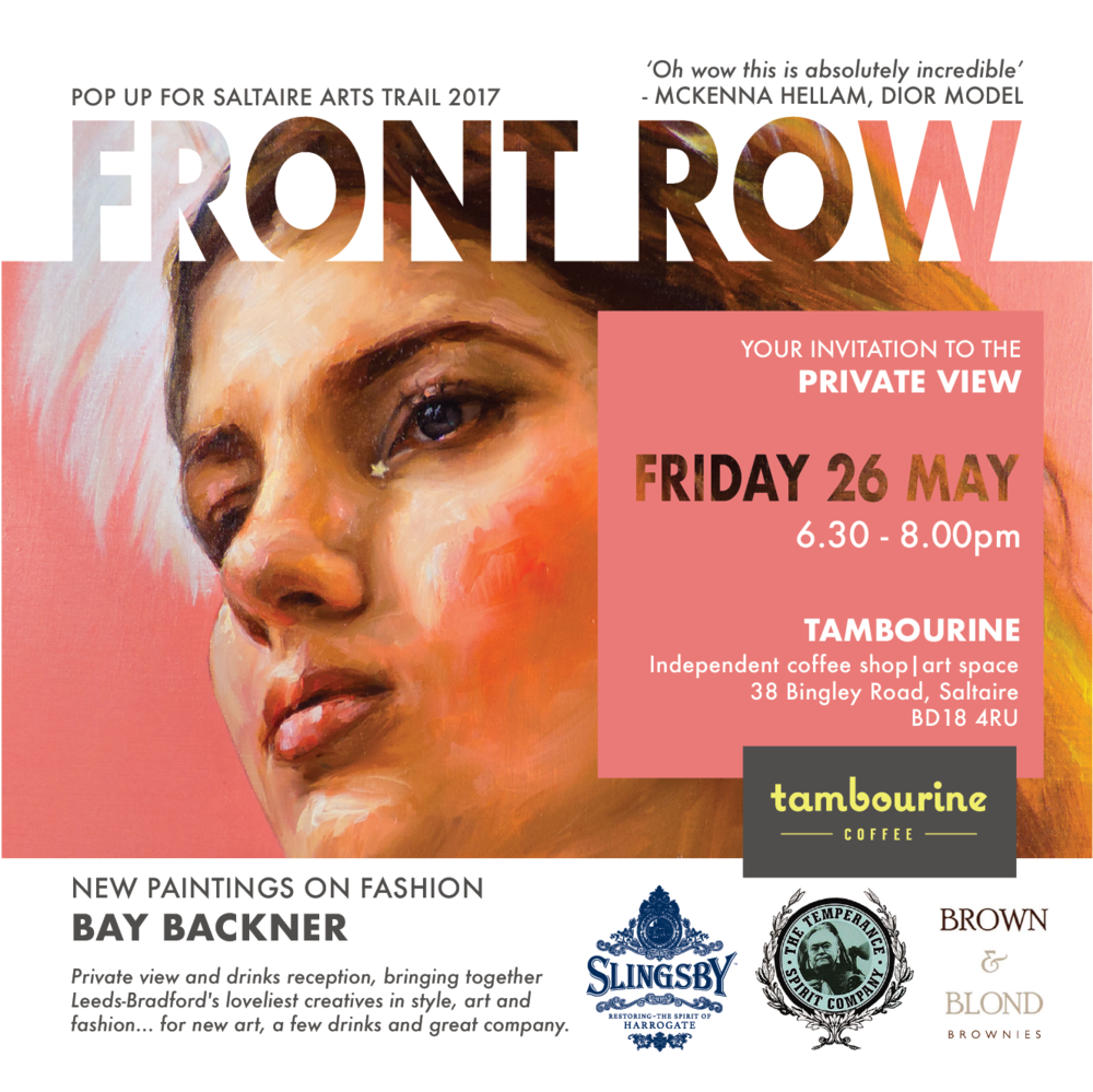 Front Row Private View Invitation May 2017 - Saltaire Arts Trail