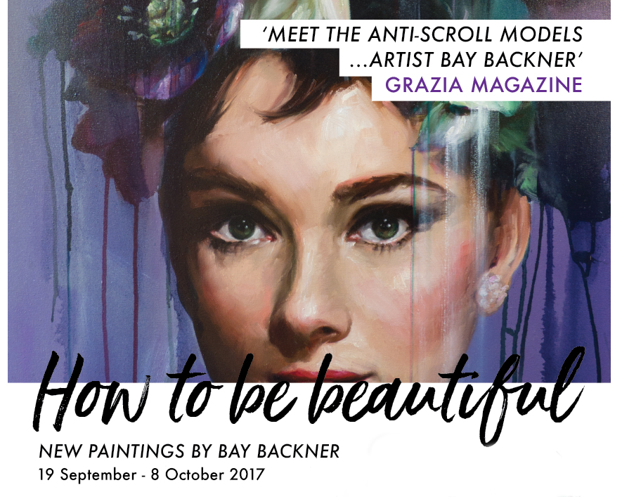 how to be beautiful bay backner art exhibition