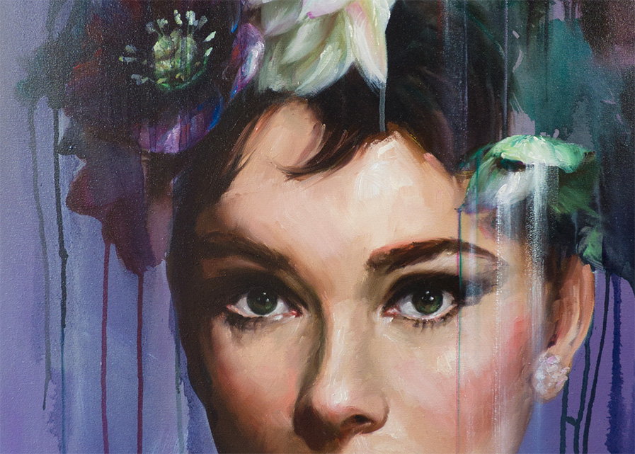 audrey hepburn bay backner art beautiful portrait