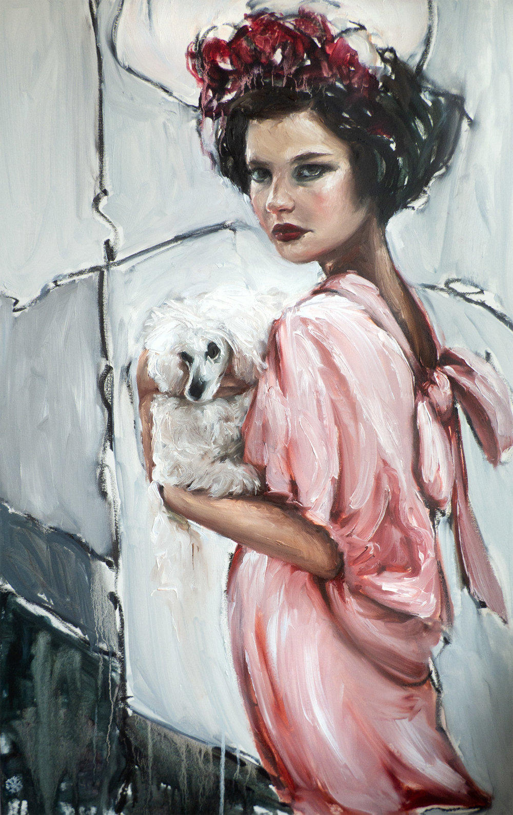 the woman with the little dog.jpg