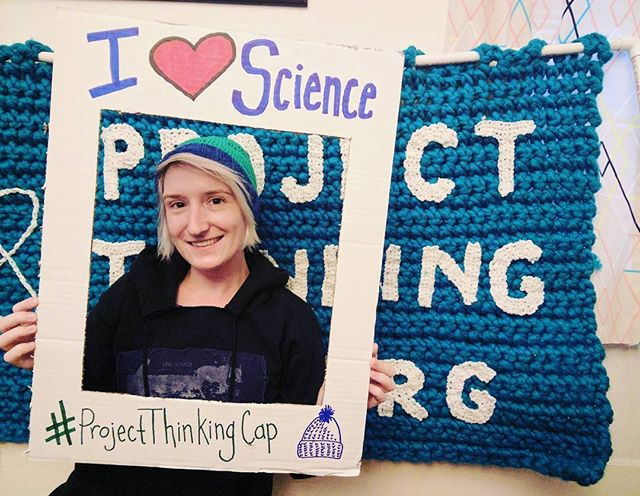 Visit us at the March for Science DC and grab a #projectthinkingcap picture and hat! We will be around Jefferson and 14th! #sciart #sciencematters #craftivism