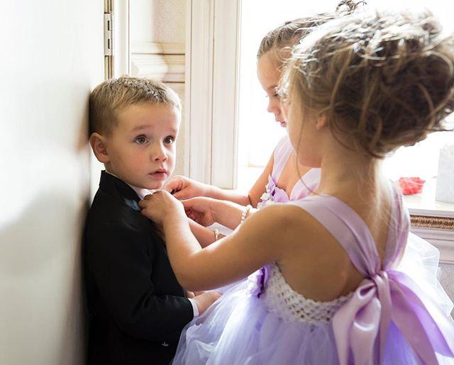 Bow tie maintenance brigade 💜💞💝 . . . . . #cute #cutekids #weddings #adorable #flowergirls #weddingphotography #weddingphotographer #tbt #cutenessoverload #love