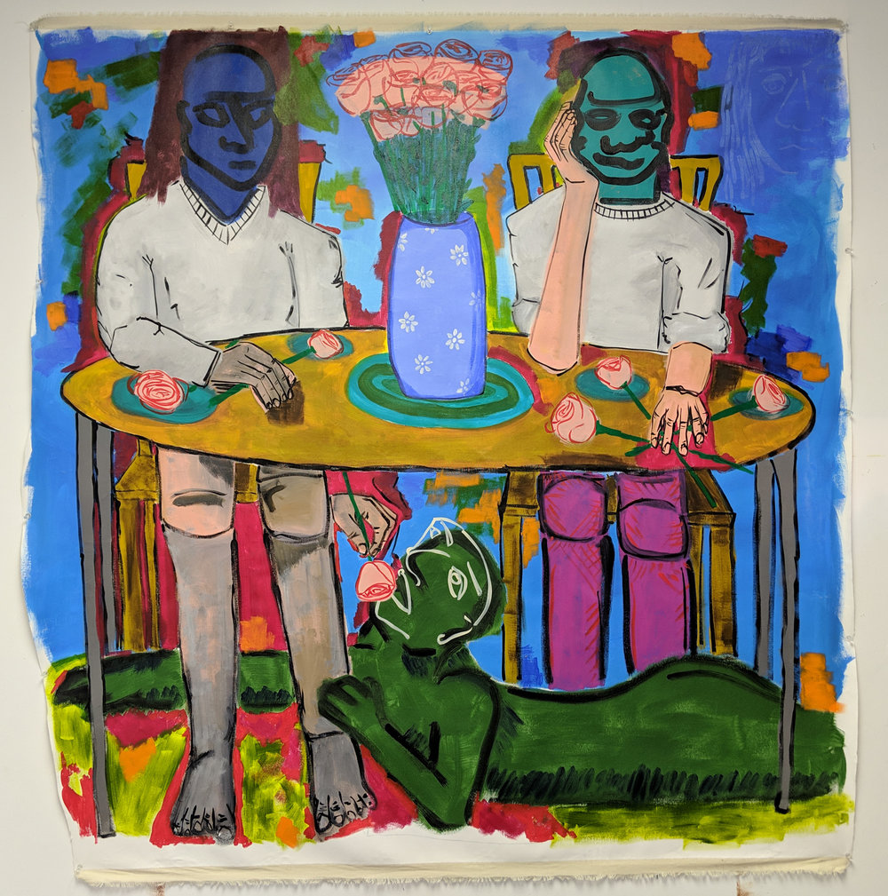 Flower Eaters (Dining Room), 2017