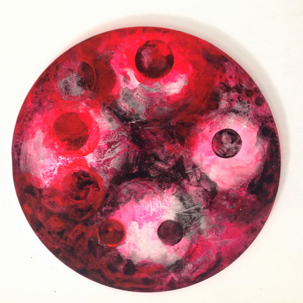 Under the Volcano    20 inch diameter  Acrylic on Canvas  2013
