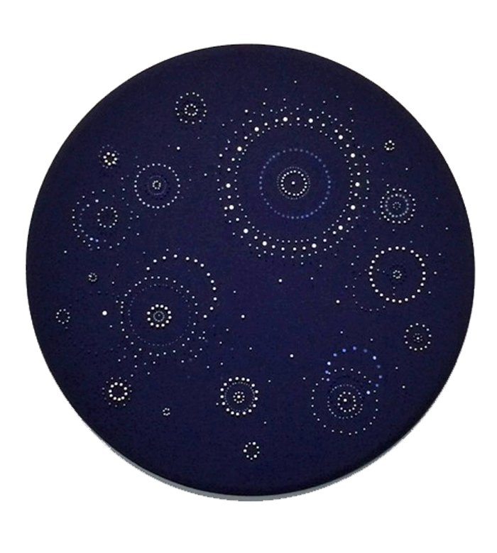 Round Midnight    46 inches diameter   Pins and Acrylic on Muslin   2015