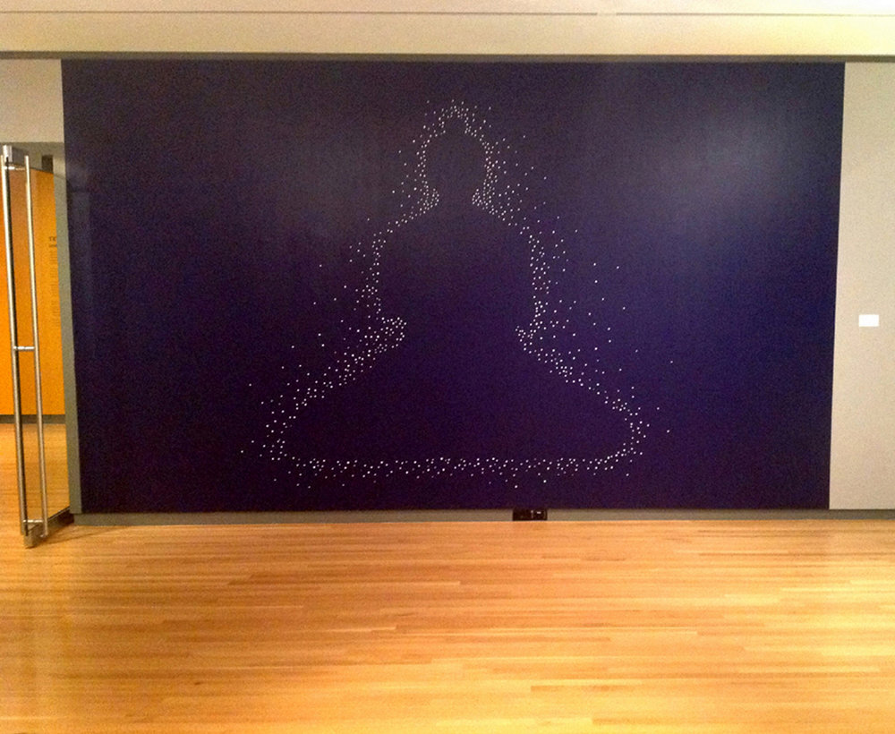 Buddha     10 x 20 feet   Latex and Acrylic on Wall    Loyola University Museum of Art    2013