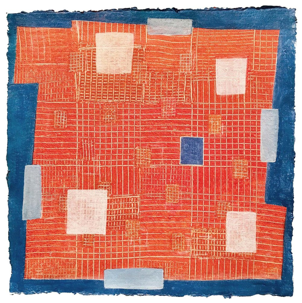 Pueblo      12 x 12 inches  Acrylic on Paper 2016