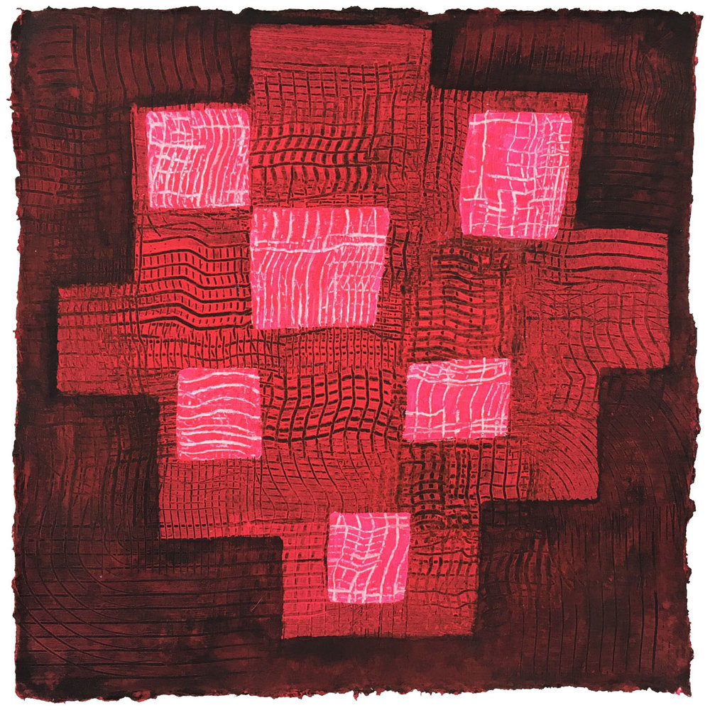 Le Rouge et Le Noir       12 x 12 inches  Acrylic on Paper 2016