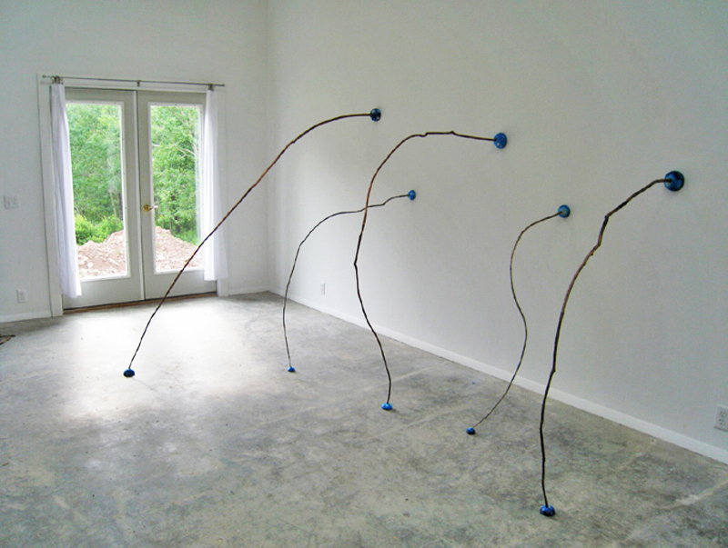 Line Up       Branches,  Printed Rice Paper on Styrofoam   Dimensions Variable   2009