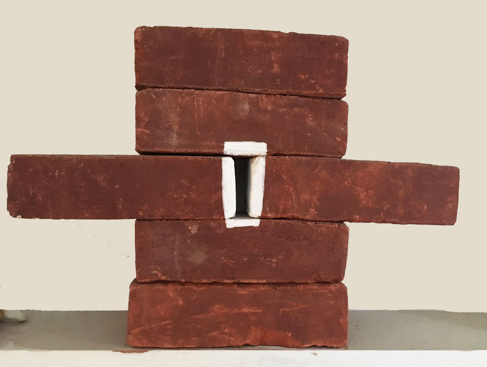 Brick-a-Brac 3    12  x 16 x 4 inches    Acrylic on Bricks 2000