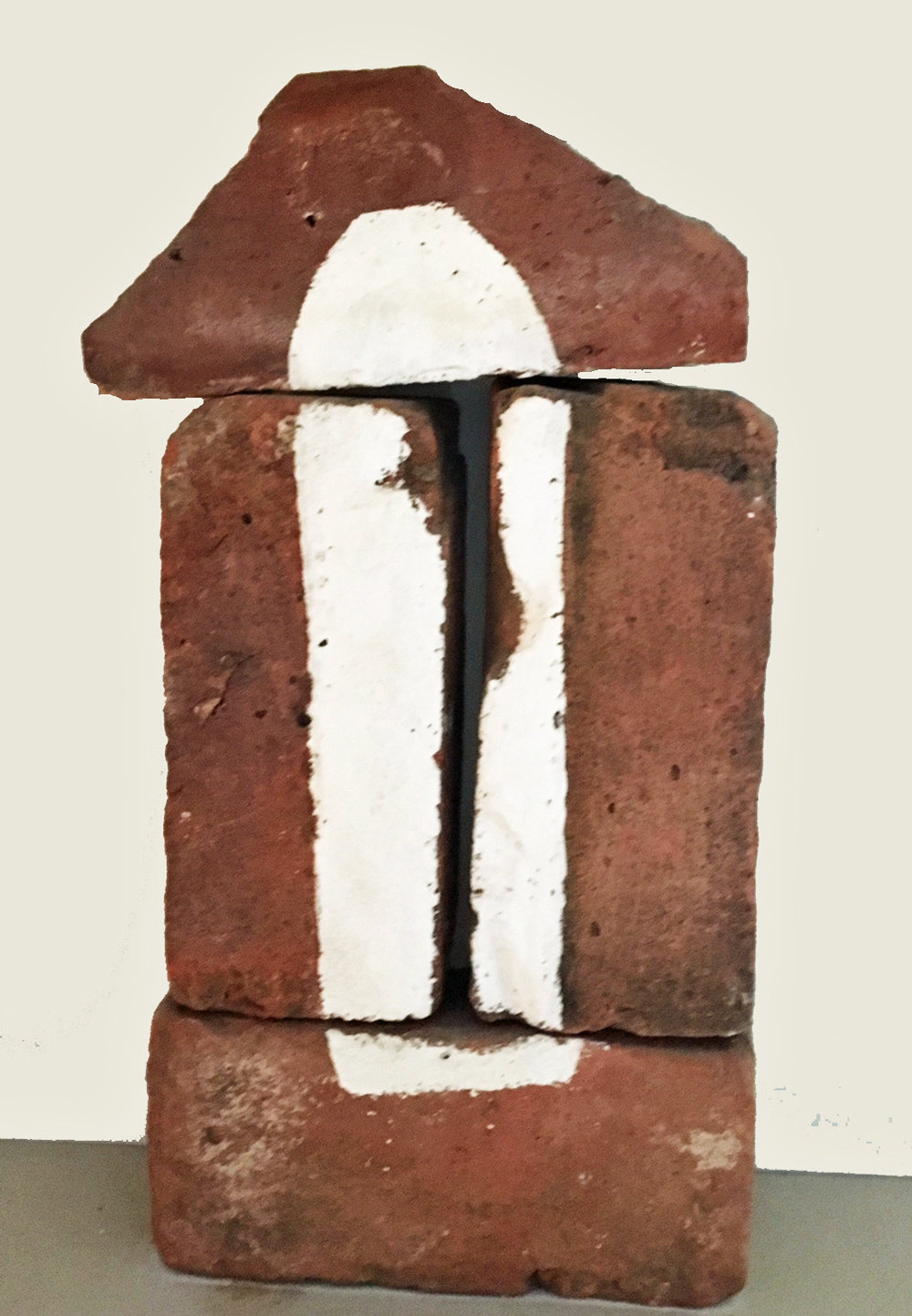 Brick-a-Brac 4     8 x 16 x 4 inches    Acrylic on Bricks 2000