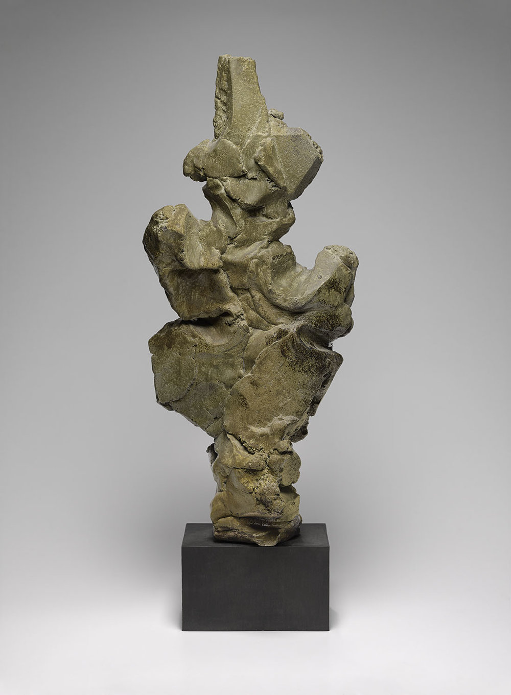 "John Mason, ""Untitled, Vertical Sculpture"" (1961), glazed stoneware, 30 x 15 3/4 x 7 3/8 in (click to enlarge)"