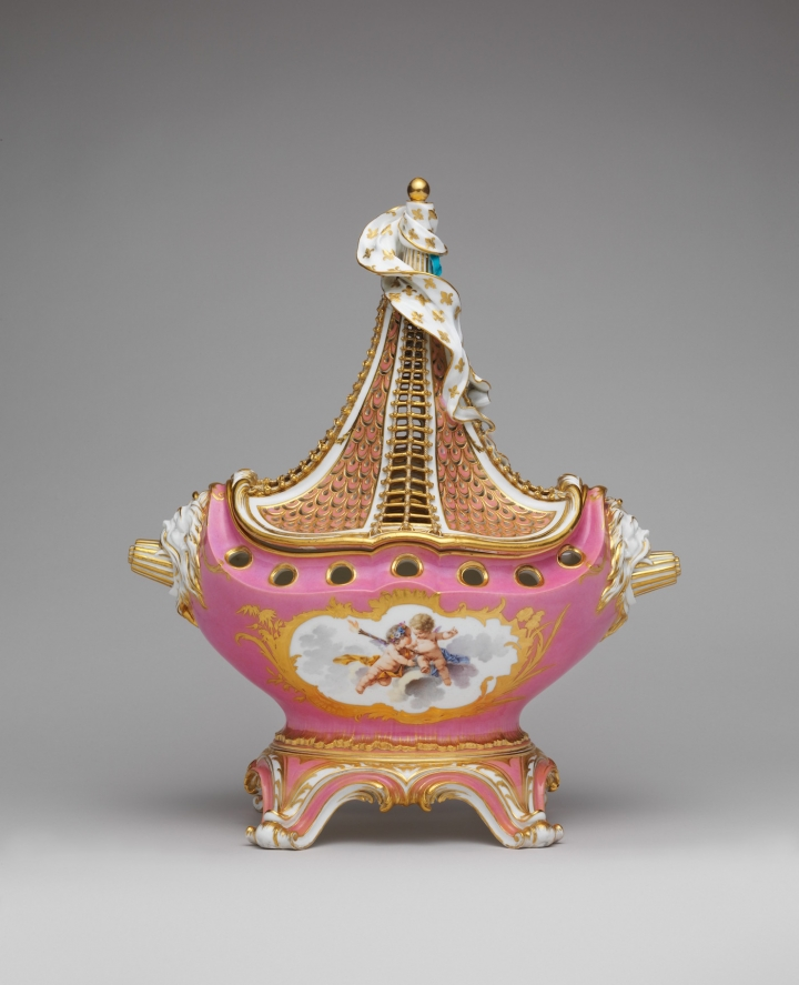 SOFT-PASTE PORCELAIN POTPOURRI VASE, SÈVRES MANUFACTORY (FRENCH, 1740–PRESENT), MODELED BY JEAN-CLAUDE DUPLESSIS (FRENCH, CA. 1695–1774, ACTIVE 1748–74), CA. 1757–58, GIFT OF SAMUEL H. KRESS FOUNDATION, 1958 (IMAGE VIA  METROPOLITAN MUSEUM OF ART )