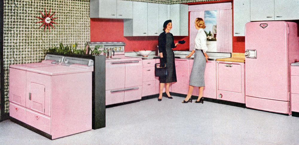 PRINT AD FOR HOTPOINT STOVES, 1956 (IMAGE VIA FLICKR)