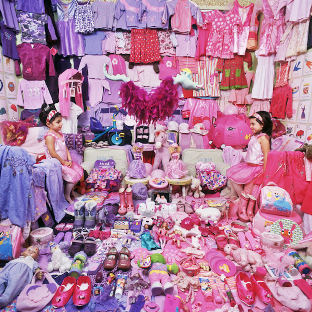 "JEONGMEE YOON, ""THE PINK PROJECT II: LAUREN & CAROLYN AND THEIR PINK & PURPLE THINGS"" (2009), LIGHT JET PRINT (IMAGE COURTESY OF THE ARTIST)"