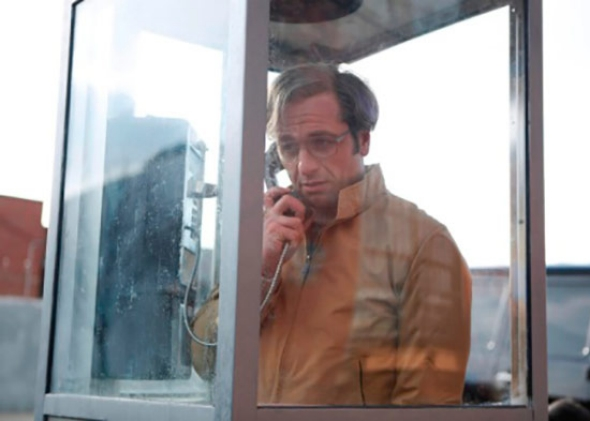 Philip in a phone booth. Courtesy of Craig Blankenhorn/FX