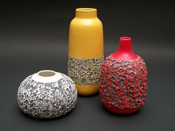 "A trio of 2010 ""Heath Hybrid"" vases by Silverman"