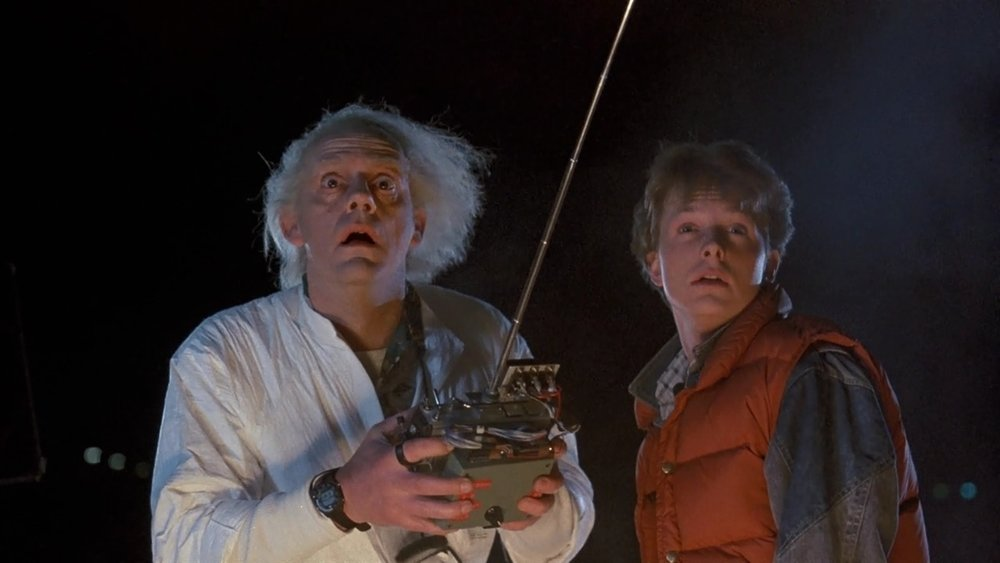 Doc and Marty's test run of the DeLorean, 1985 (image via  thedissolve.com )