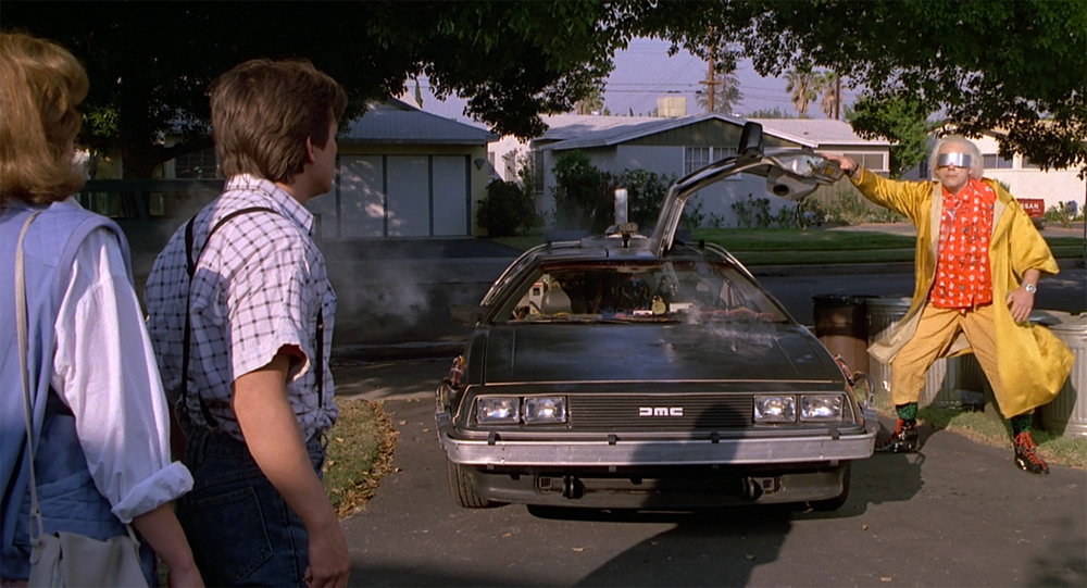 Doc Brown returned from the future, 1985 (image via  imdb.com )