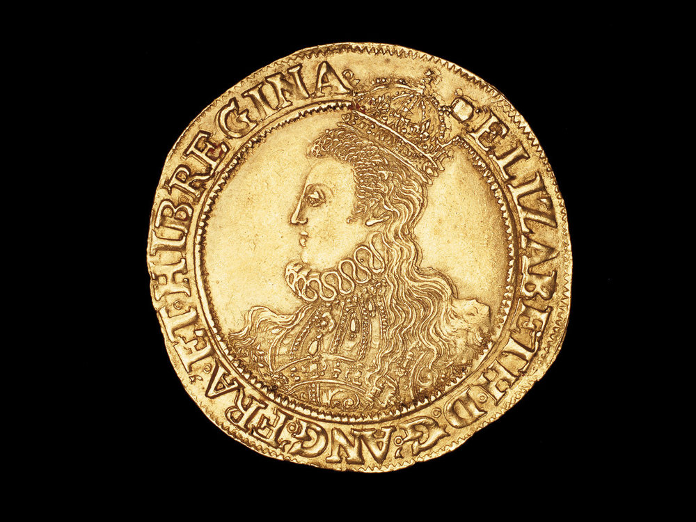 An English coin featuring a portrait of Elizabeth Photograph by Hoberman Collection/UIG via Getty.