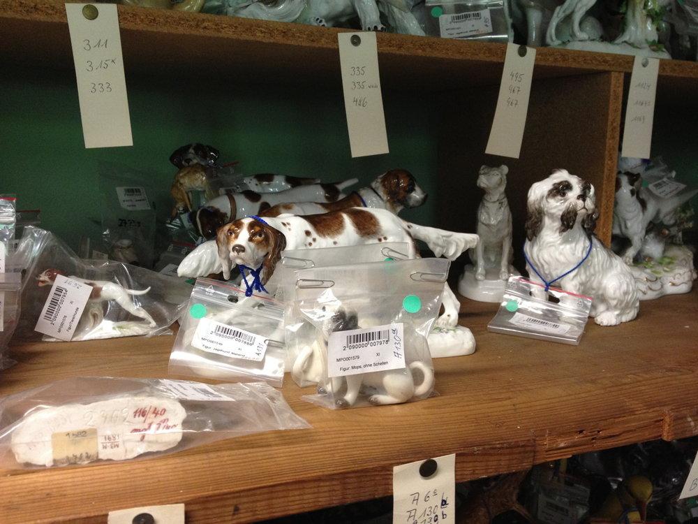 Porcelain figurines at Meissen