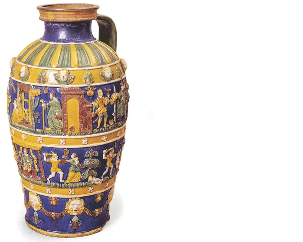 Paul Preuning  Earthenware jug, ca. 1550, attributed to the workshop of Preuning.