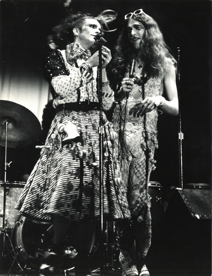 Cockette Pristine Condition (left) and Cockette Scrumbly Koldewyn (right), opening act for New York Dolls, Matrix, New York, August 1973 (courtesy of Kourosh Larizadeh and Luis Pardo)