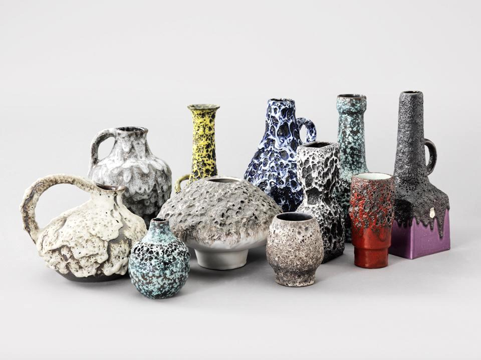A selection of Fat Lava ceramics.  Photograph by Nicolas Trembley/Apartamento .